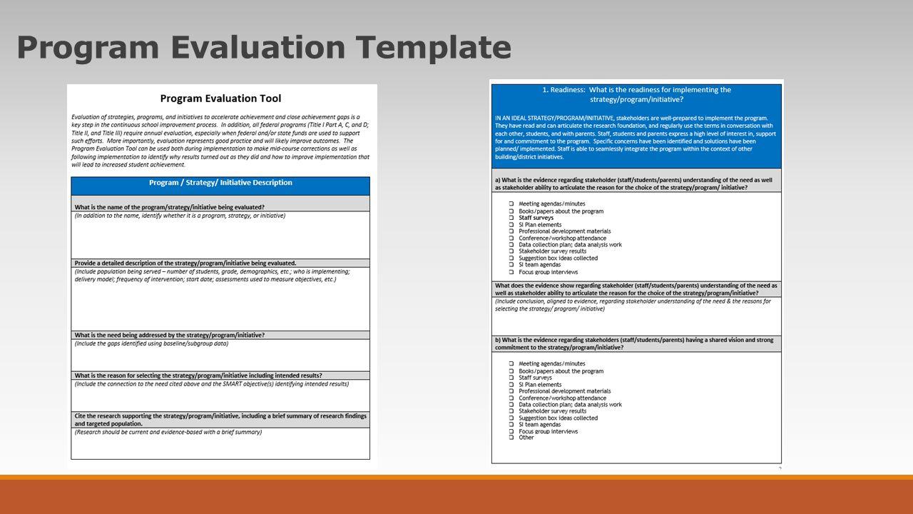 13 Program Evaluation Template