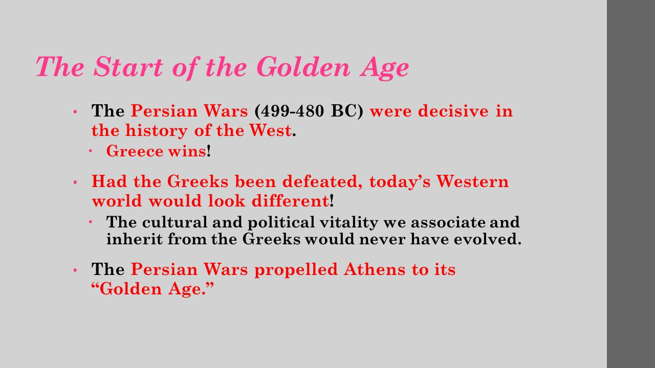 How did the Greek defeat of the Persians affect the Western World today?