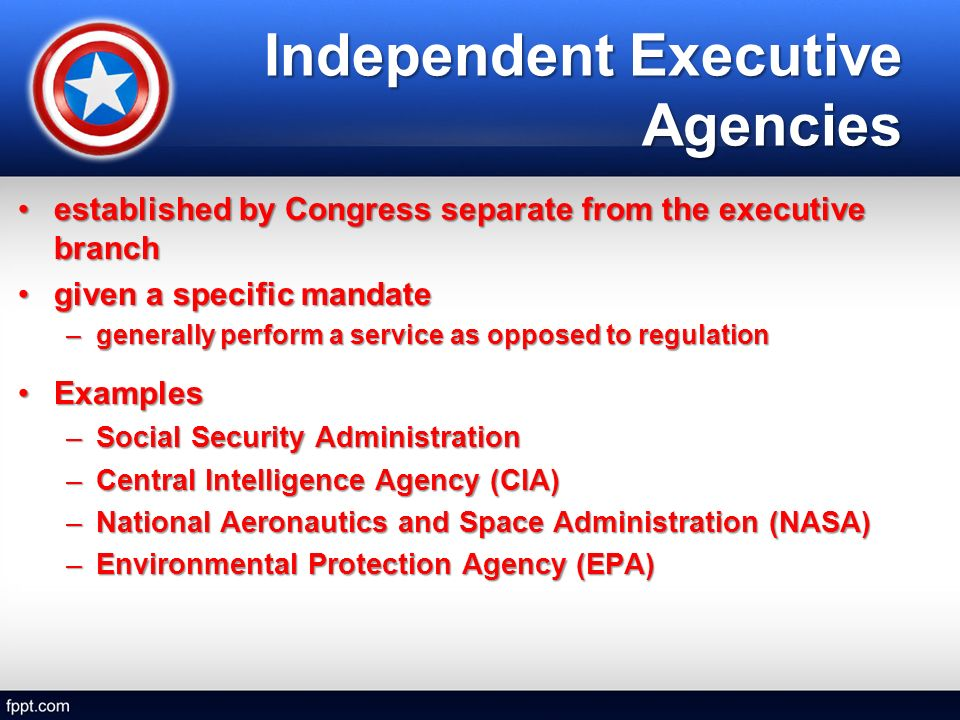 Components of the Federal Bureaucracy. Cabinet Departments 15 ...