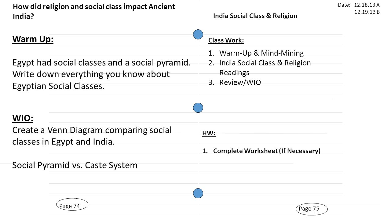 Page 69 india geography page 68 warm up what are some common page 75 india social class religion page 74 warm up egypt had social classes robcynllc Images