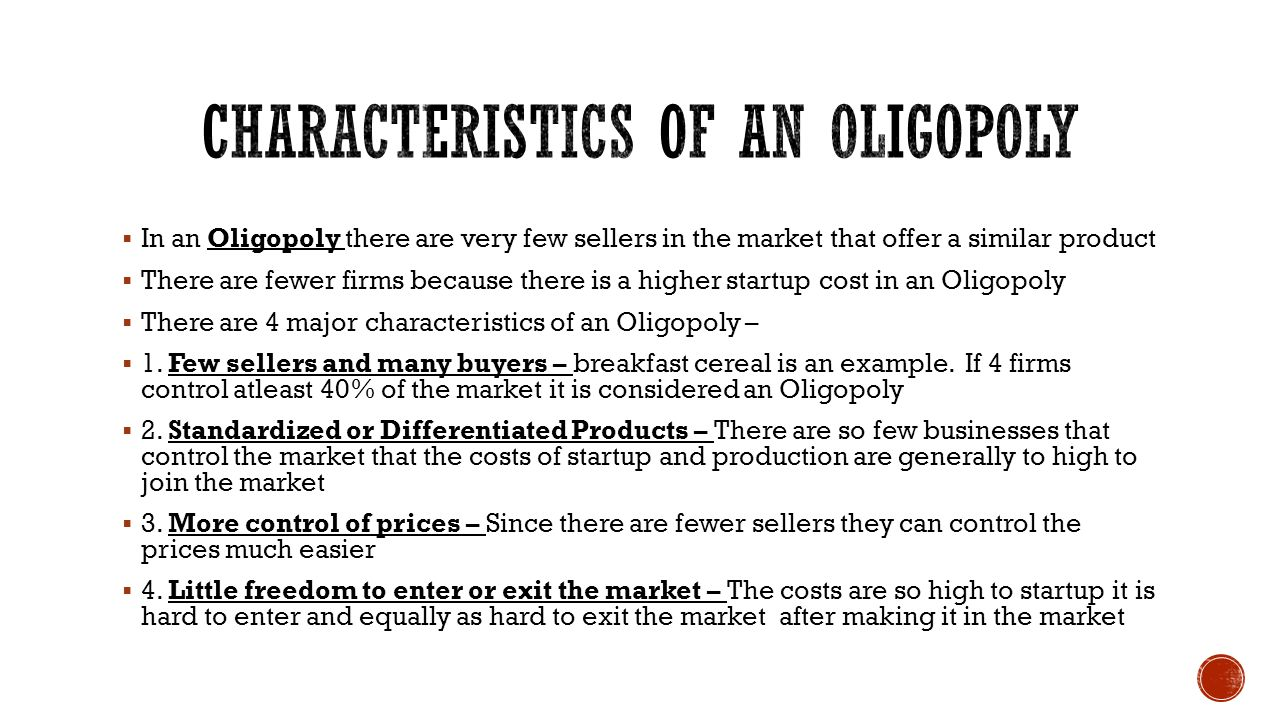 an introduction to the market structure of oligopoly Key summary on market structures oligopoly and collusion (revision essay plan) practice exam questions monopolistic markets (mcq revision questions.