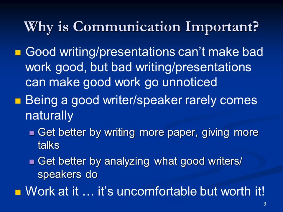 cs communication skills communication is the key no  3 3 why is communication important good writing presentations