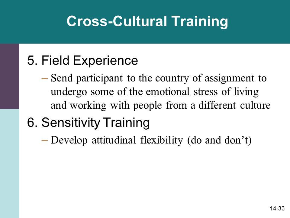 14-33 Cross-Cultural Training 5.