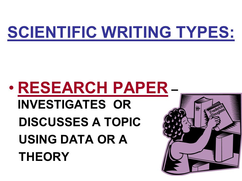 scientific writing of research paper