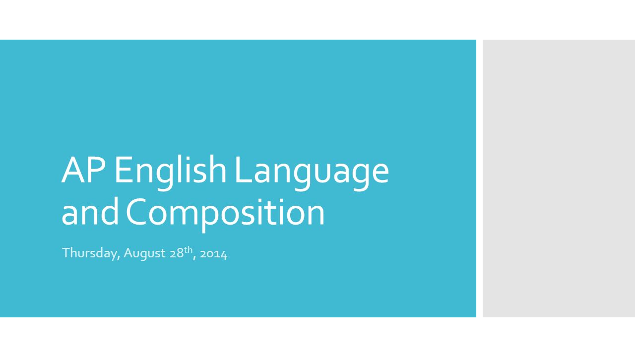 english language literature and composition essays