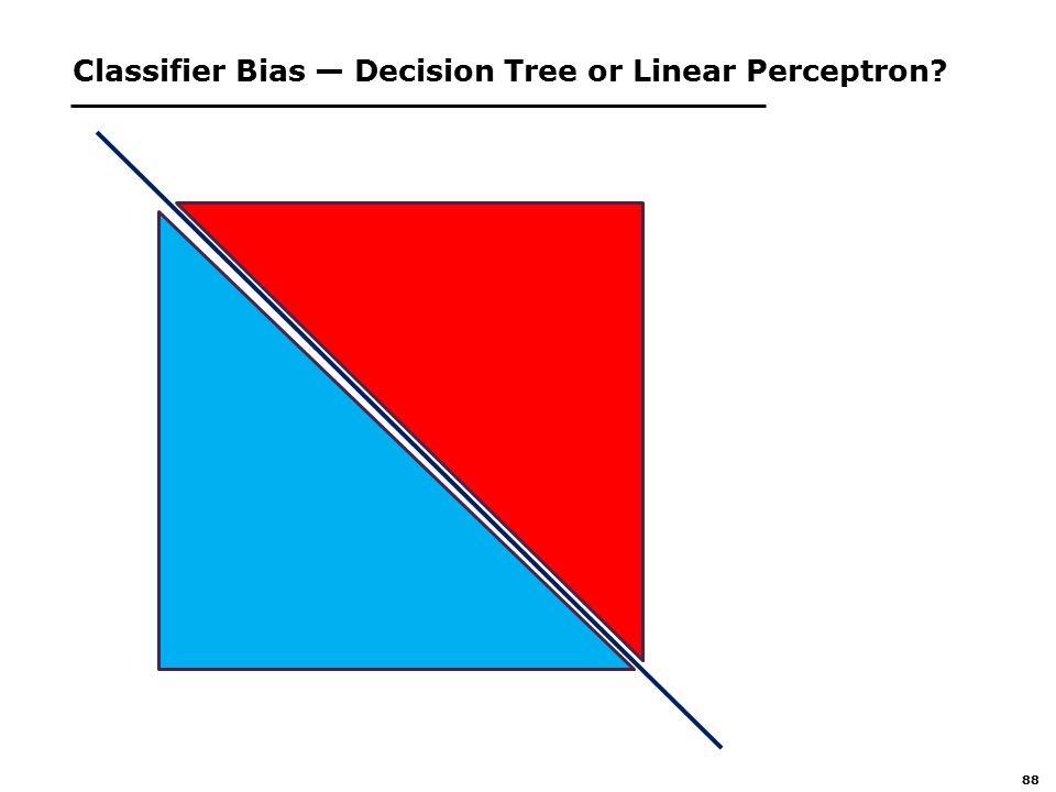 88 Classifier Bias — Decision Tree or Linear Perceptron