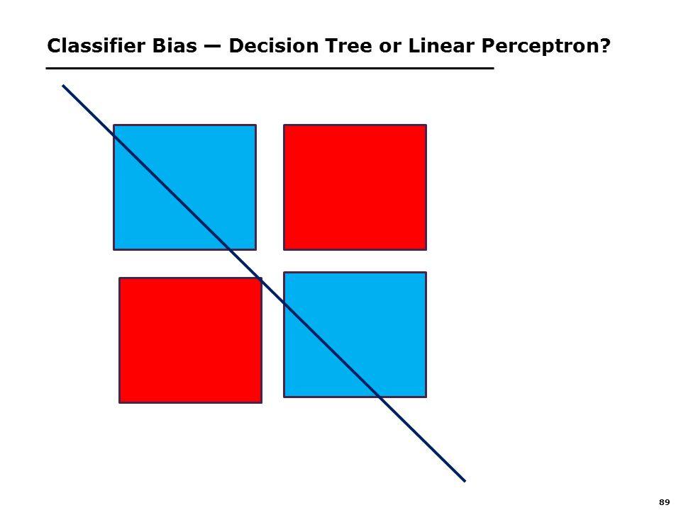 89 Classifier Bias — Decision Tree or Linear Perceptron
