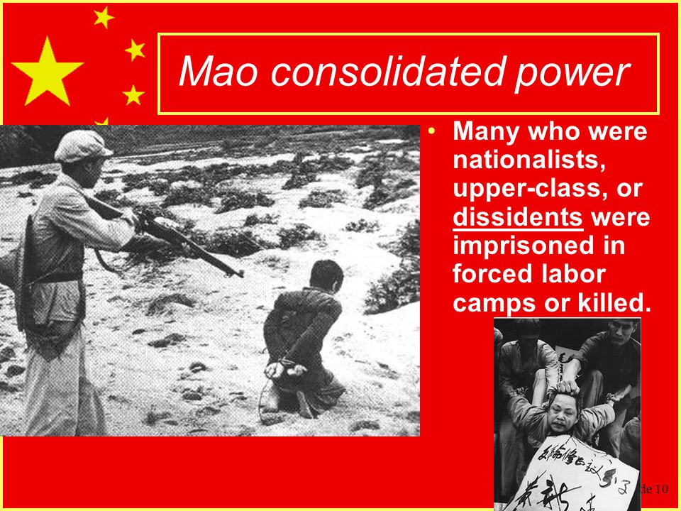 how did mao consolidate his power