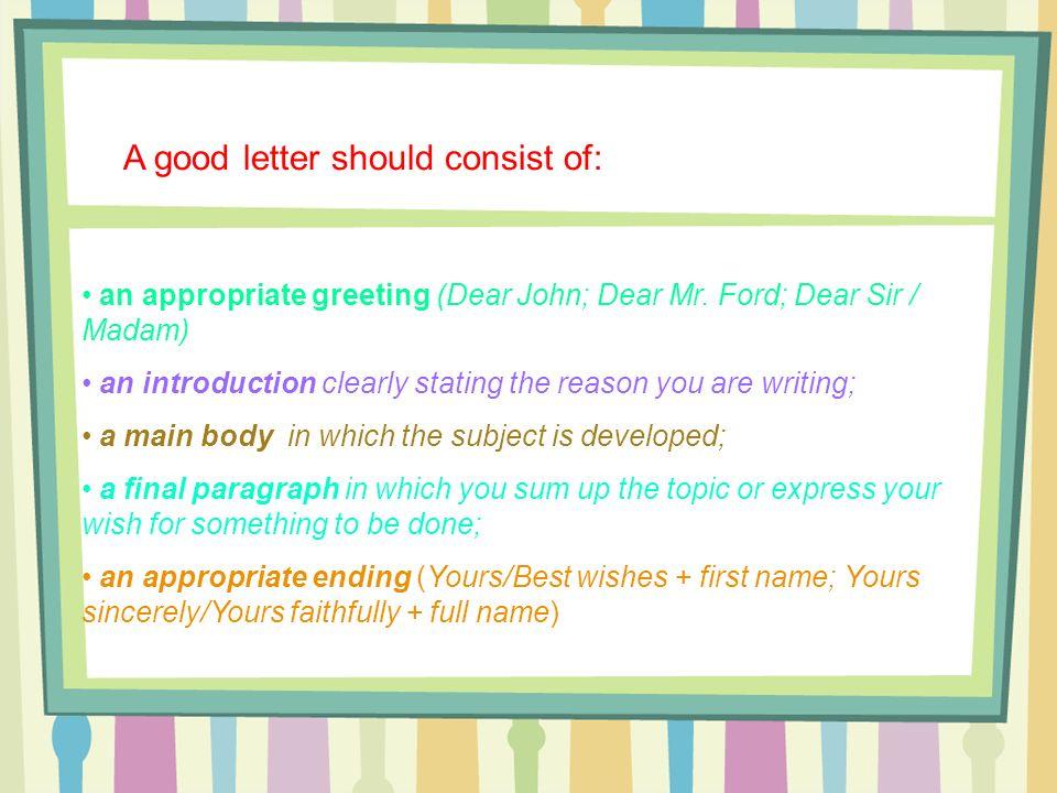 letter dear sir madam yours faithfully