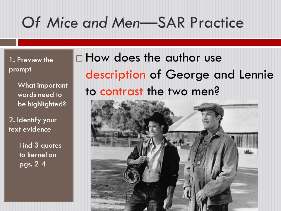 a hook for an essay of mice and men Excerpts of contemporary reviews and critical reception for john steinbeck's 1937 novel of mice and men.