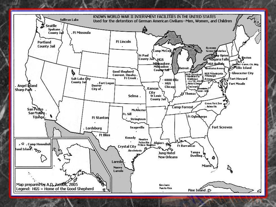 Internment World War II AntiJapanese Sentiment Ppt Download - Map of italian internment camps in us