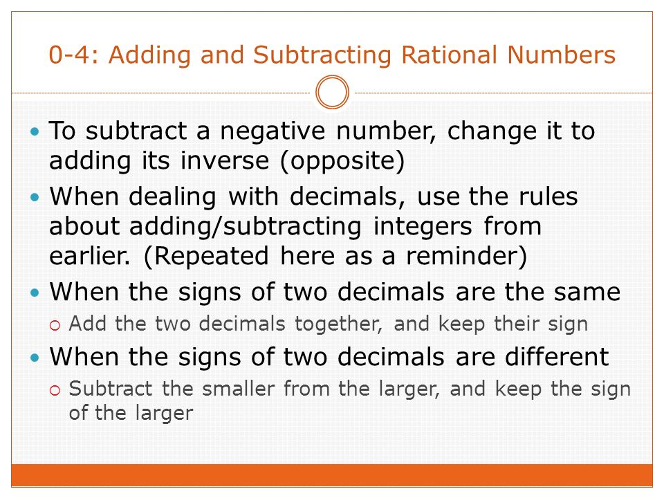 03 Operations with Integers You can use a number line to add – Adding and Subtracting Positive and Negative Numbers Worksheets