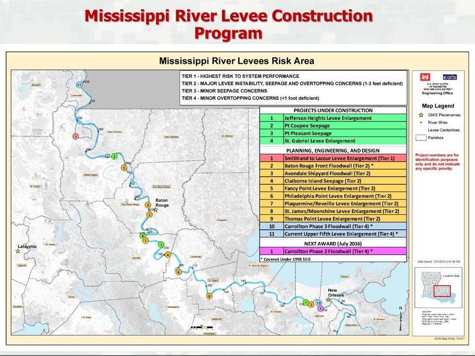 Mississippi River Levee Construction Program