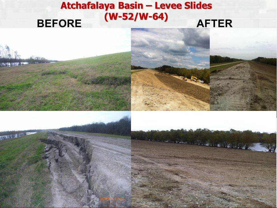Atchafalaya Basin – Levee Slides (W-52/W-64) BEFOREAFTER