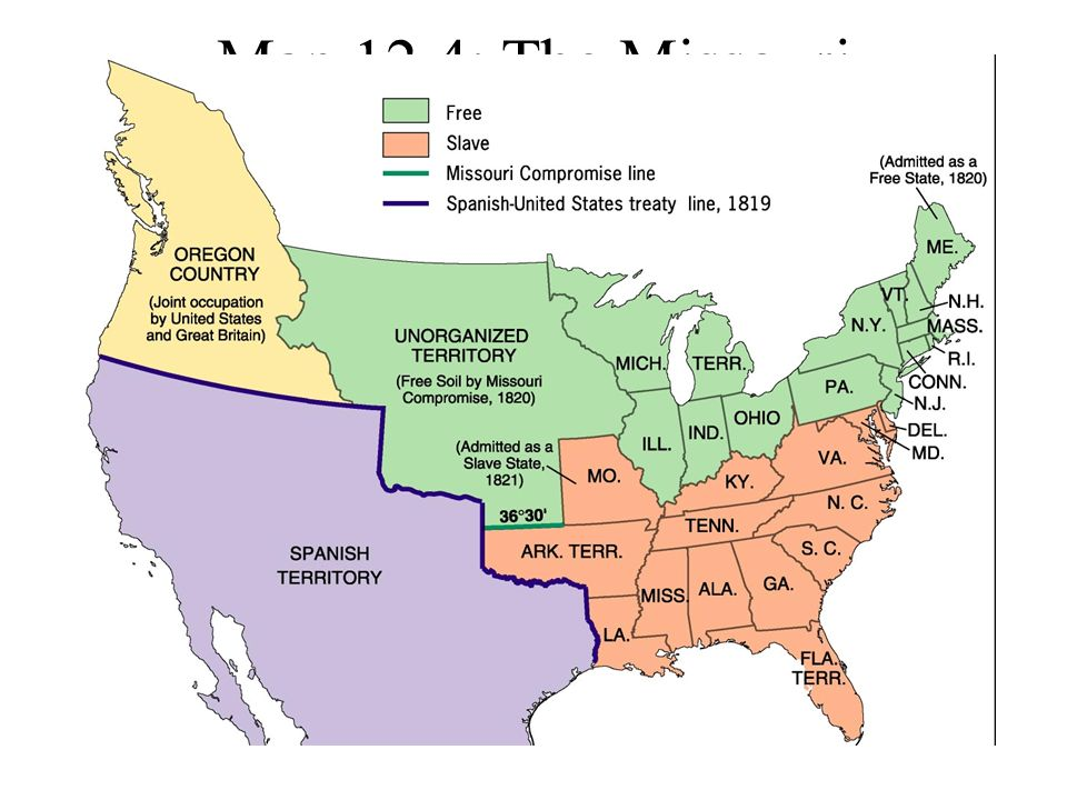 US Map AmericanHistorymapsmapsUSmapjpghtml The United - Map of us in 1820