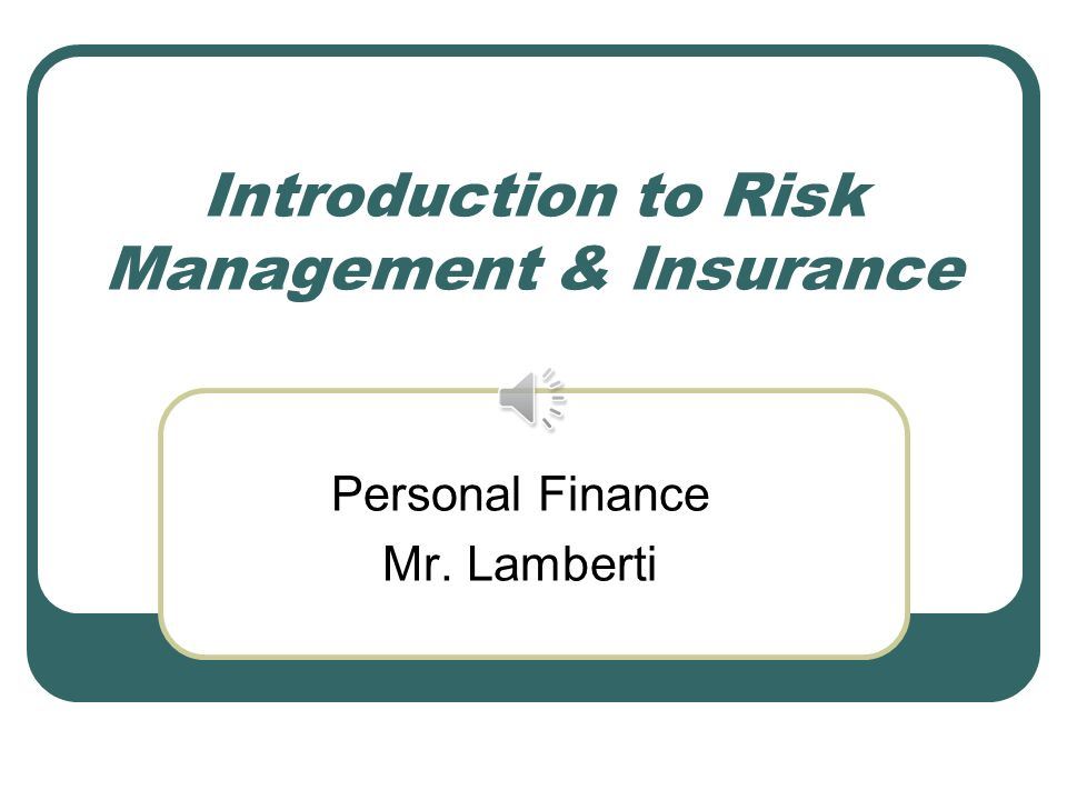 finance introduction to insurance Annamaria olivieri • ermanno pitacco introduction to insurance mathematics technical and financial features of risk trarfsfers b 374546 fyj springer.