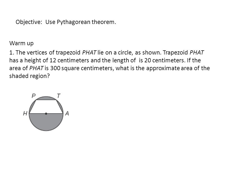 Objective Use Pythagorean theorem Example ppt download – Pythagorean Theorem Worksheet Doc
