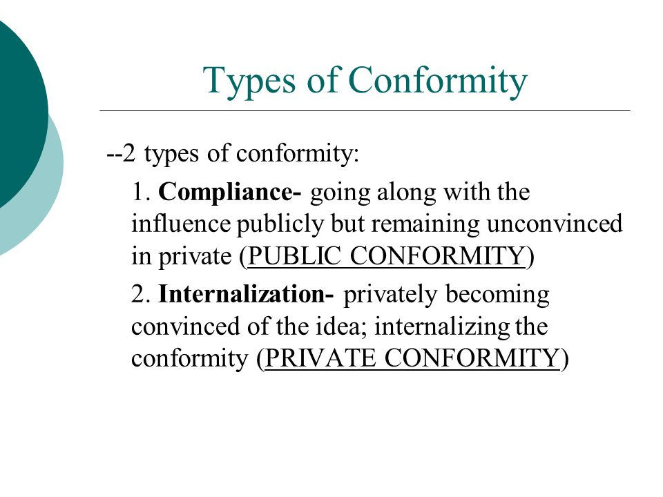 Essays On Conformity