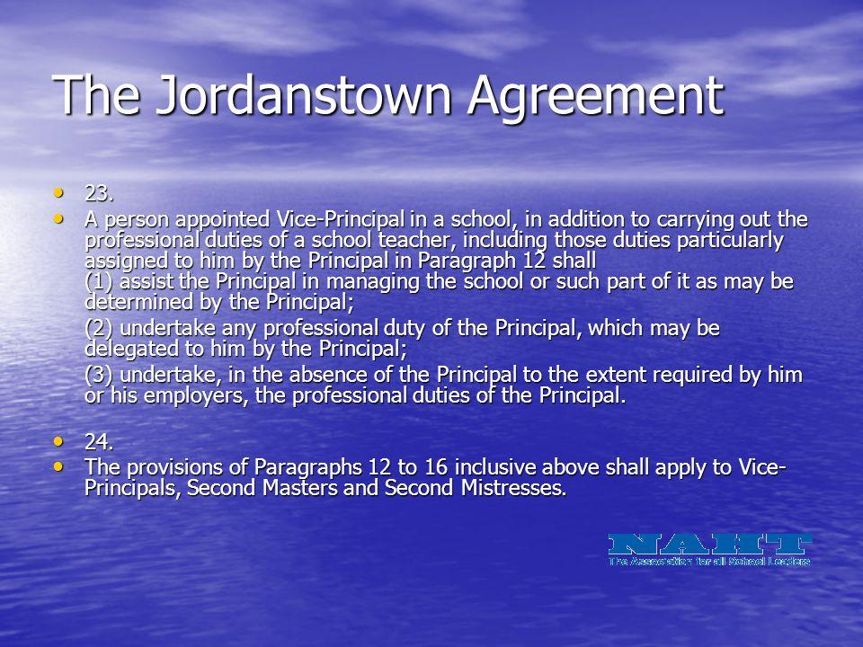 The Jordanstown Agreement 23. 23.