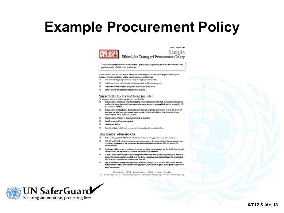 Transportation policy mainstreaming at12 slide ppt download 13 example procurement policy at12 slide 13 pronofoot35fo Choice Image
