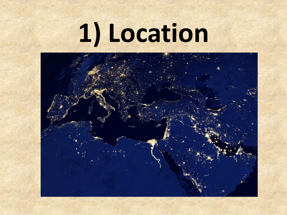 The Middle East and North Africa Through the 5 themes of geography…