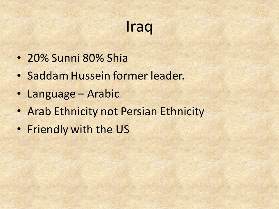 Iran Mostly Shia Strait of Hormuz Former Persian Empire Language – Farsi Not friendly with the USA