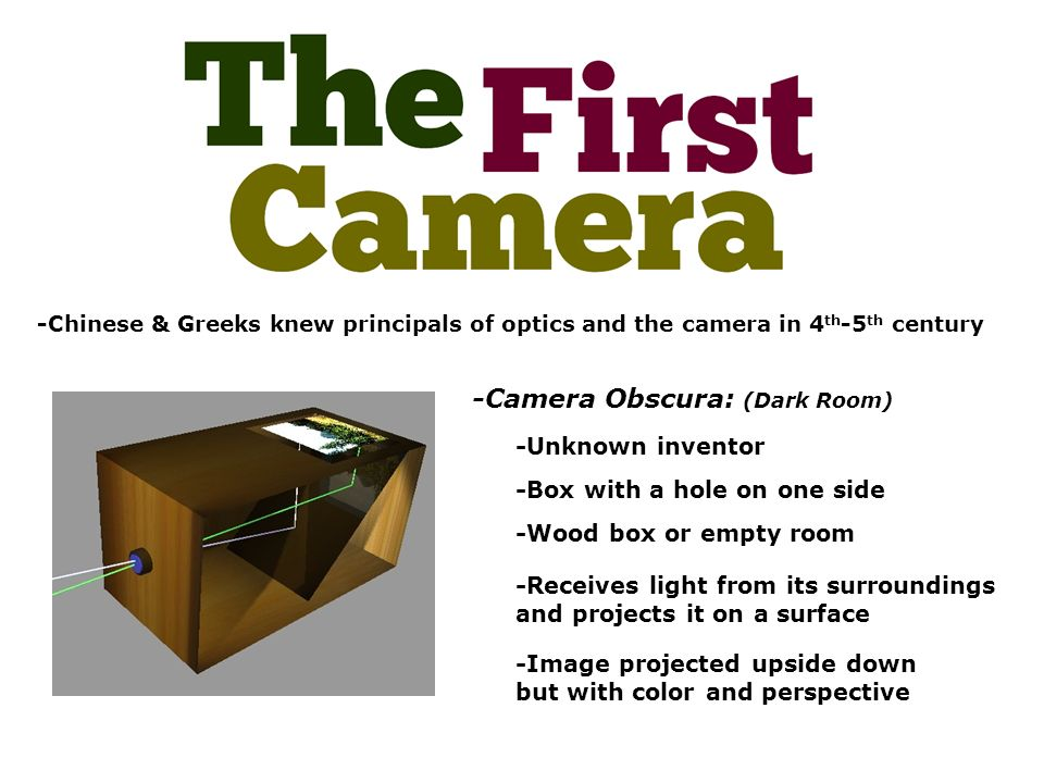 Camera Obscura: (Dark Room) - ppt video online download