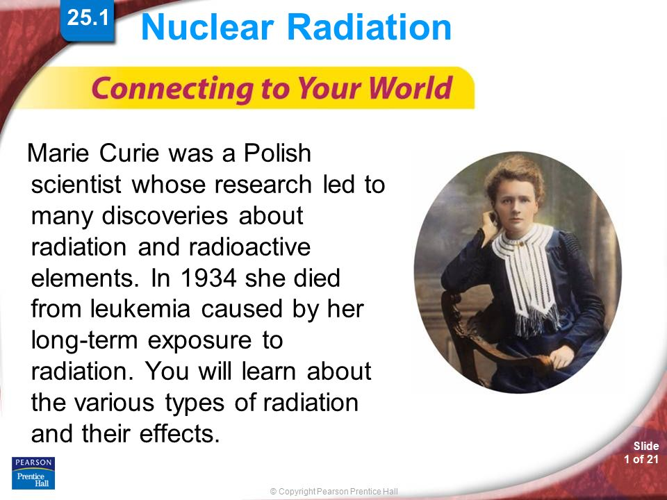 discovery of radiation and radioactivity Lesson 9: atoms 3: the nucleus introduction in this lesson we'll learn how radioactivity was discovered and how radiation was.
