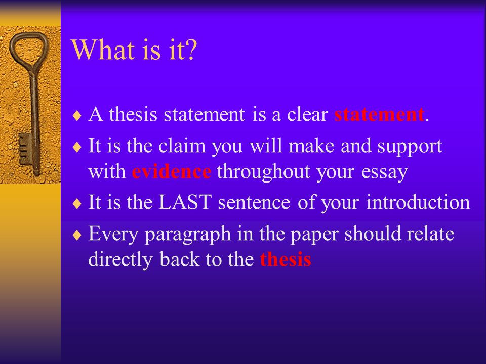 Help Me Make A Thesis Statement