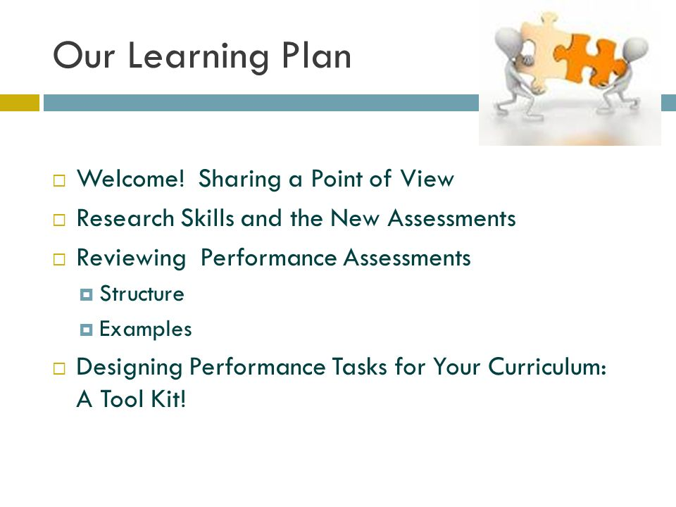 Our Learning Plan  Welcome.