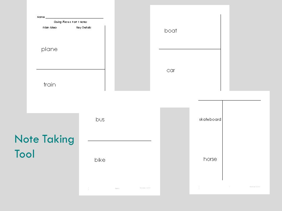 Note Taking Tool