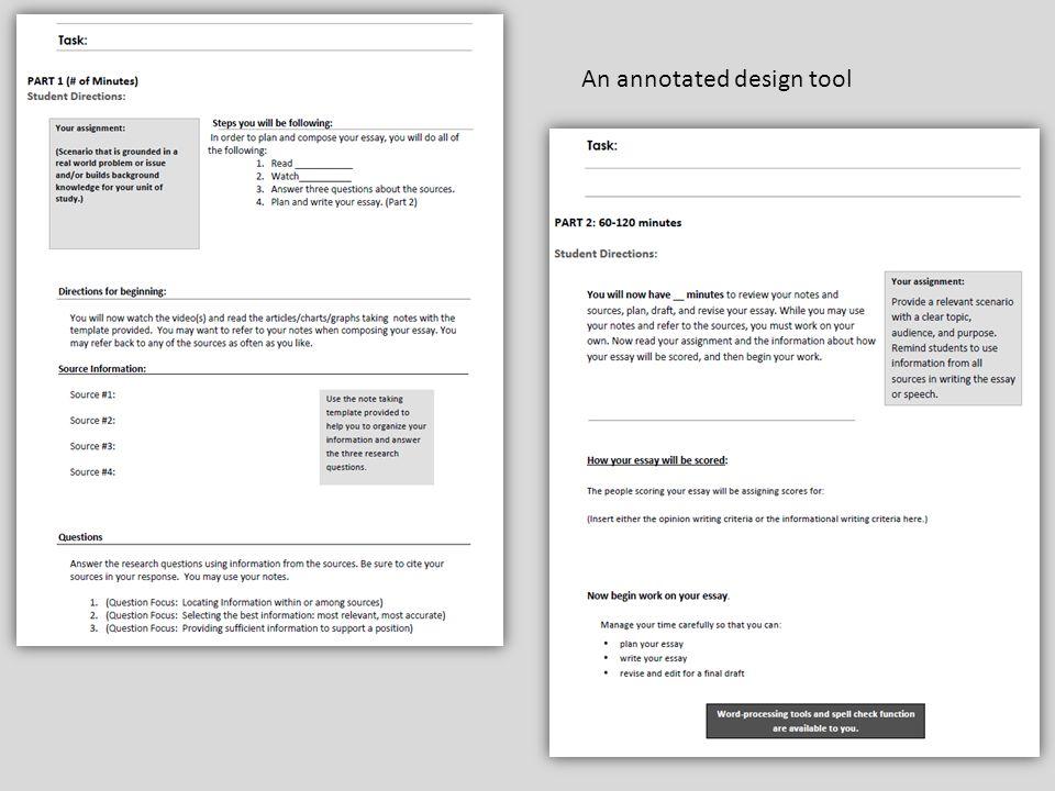 An annotated design tool
