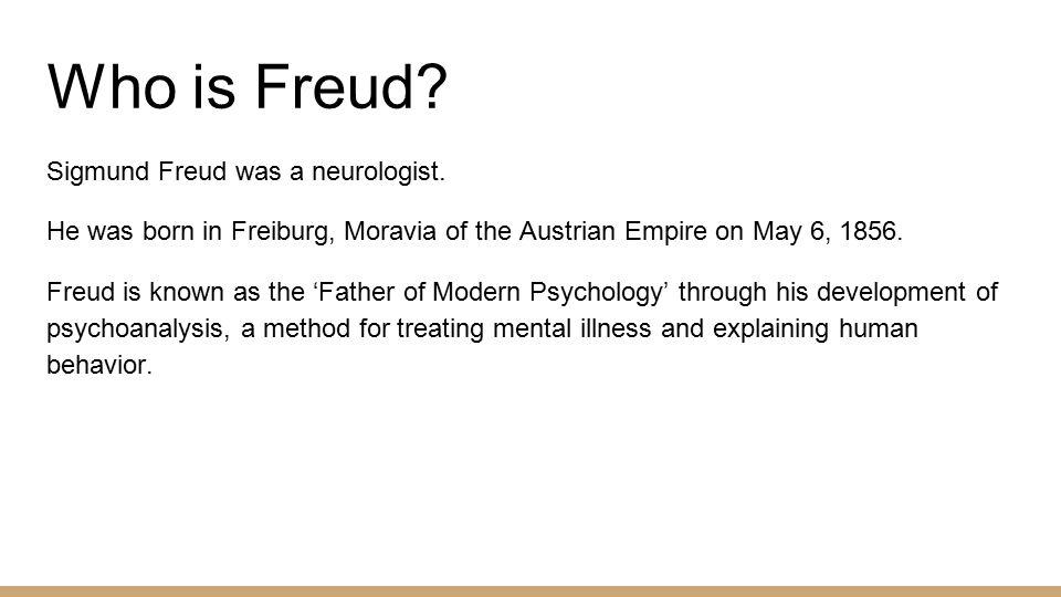 sigmund freud research on behavior
