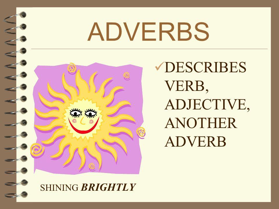 ADJECTIVES 4 DESCRIBES A NOUN OR PRONOUN BEAUTIFUL sunset