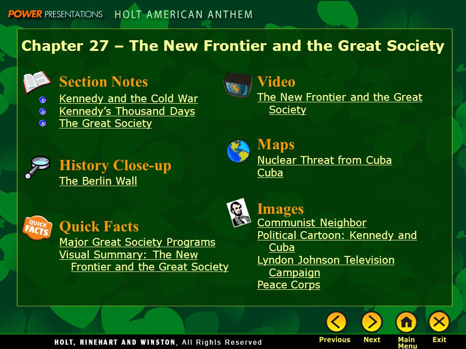u s history chapter 15 section 1 kennedy and the cold war essay Mrs madison's united states history wiki chapter 02-the american colonies chapter 28 - the new frontier and the great section 28-1 kennedy and the cold war.