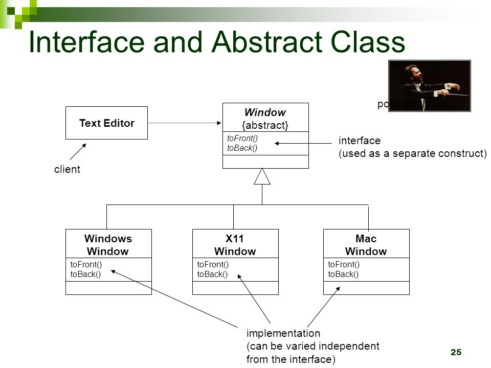1 tony busker object oriented software development ppt download 25 25 interface and abstract class ccuart Gallery