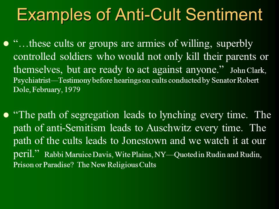 The Legacy Of Cults Charles M Brown Albright College Ppt Download