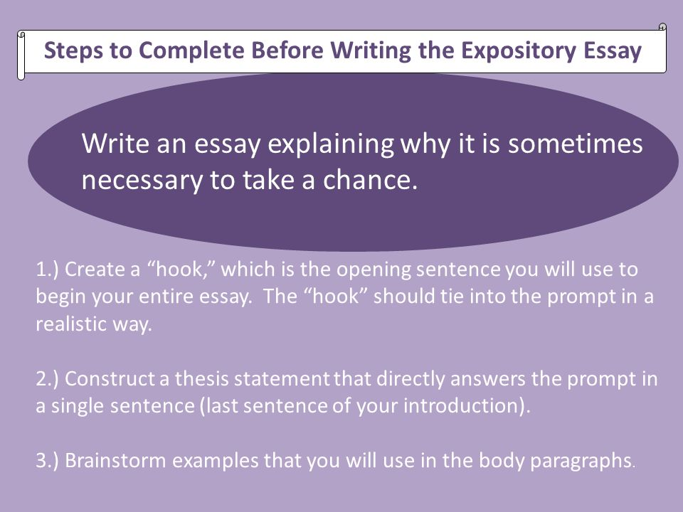 Thesis Statement For Expository Essay