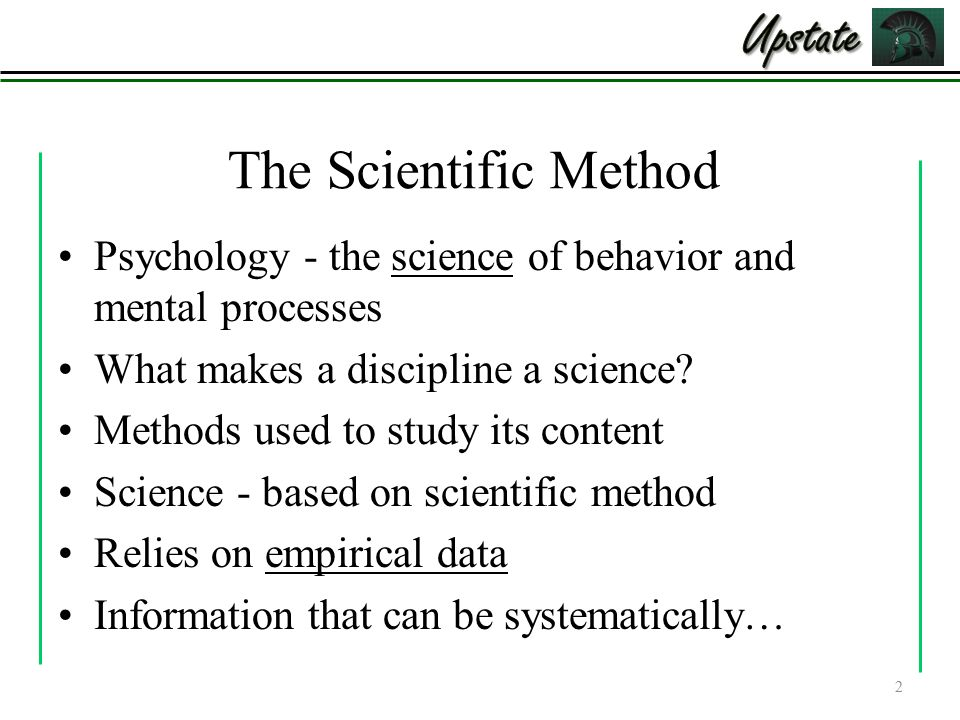 what makes psychology a science