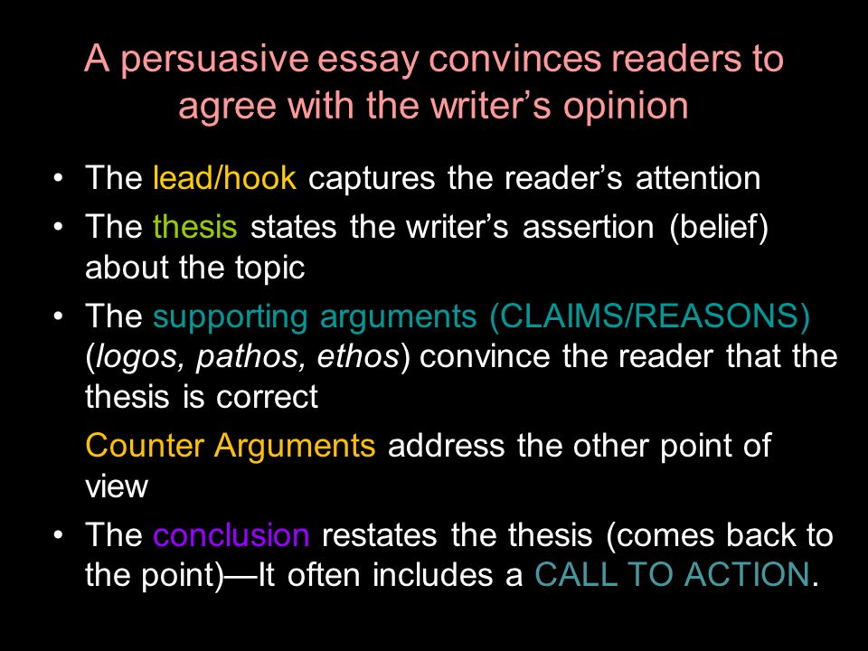 persuasive essay topics and reasons