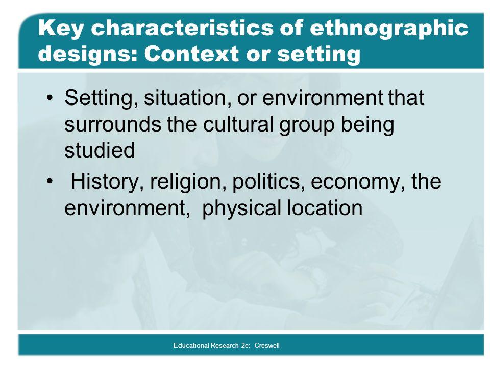 characteristics of an ethnographic essay