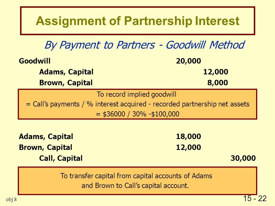 Assignment of partnership interest