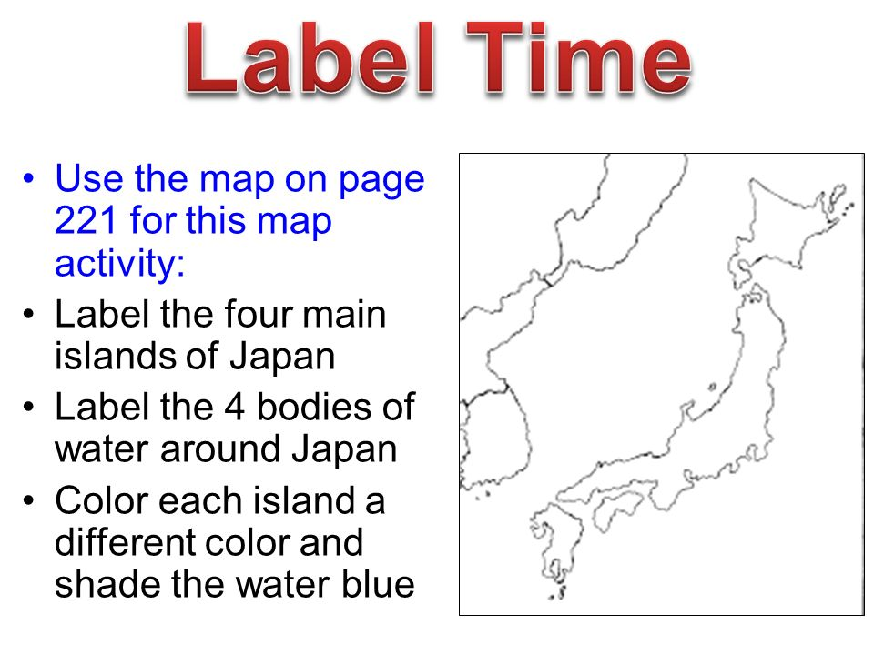 Make A List A What You Know About The Culture Of Japan Topics To - Japan map 4 main islands