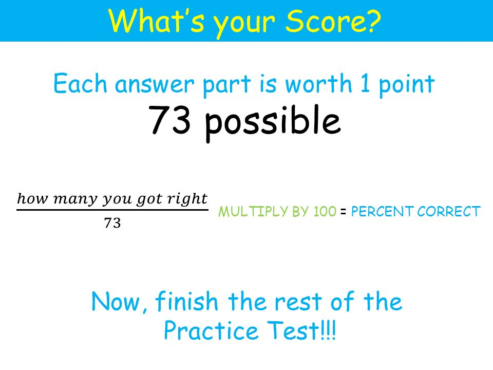 What's your Score.