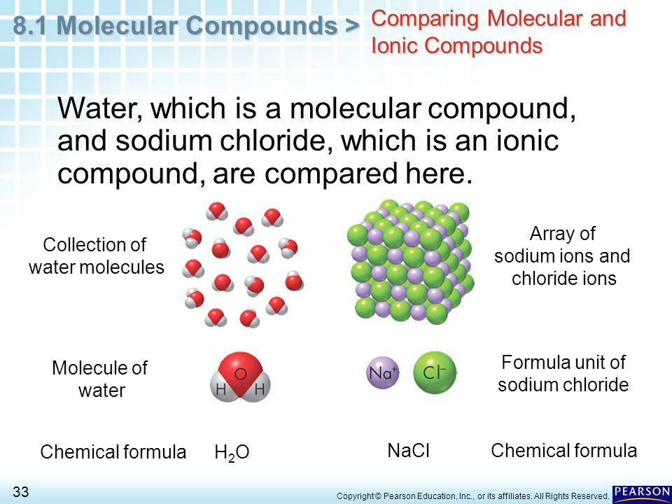 8.1 Molecular Compounds > 1 Copyright © Pearson Education, Inc ...