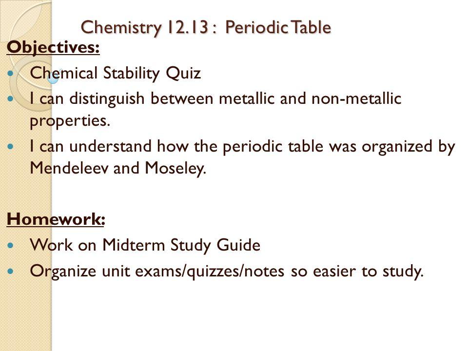 periodic table chemistry periodic table quiz pdf periodic table objectives periodic table objectives objectives - Periodic Table Quiz Pdf