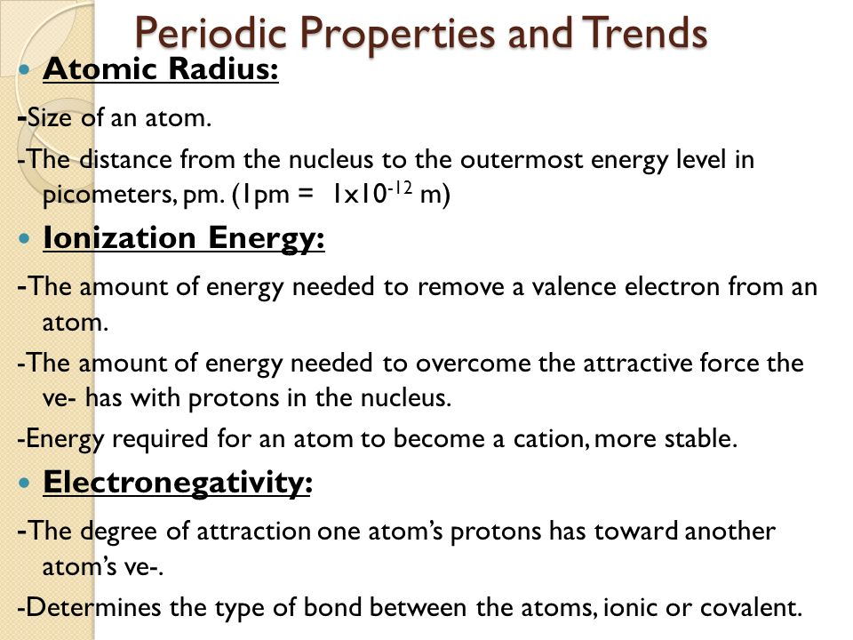 Periodic table objectives periodic table objectives objectives i 6 periodic properties and trends urtaz Image collections