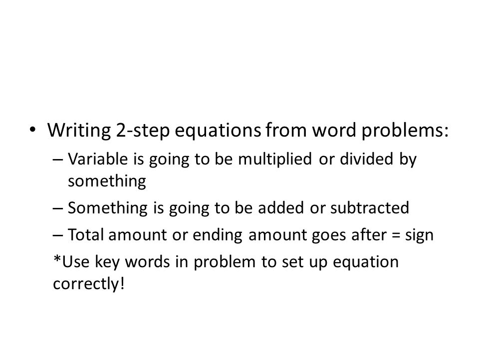 2 Step Equations Quiz – Multi Step Equation Word Problems Worksheet