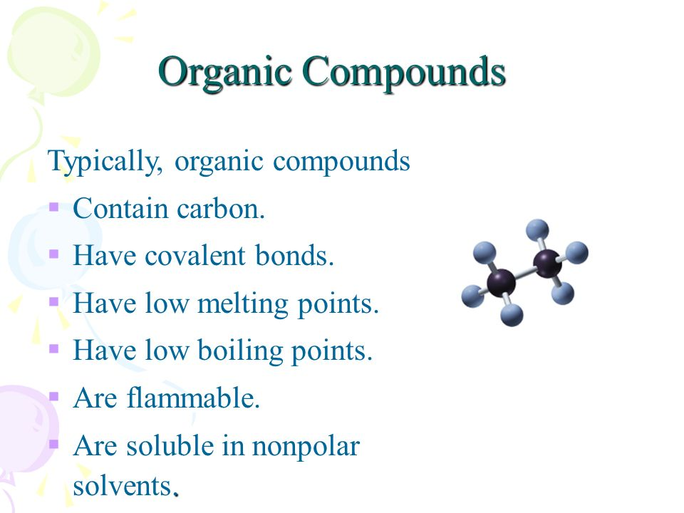 Organic Compounds Worksheet - Tecnologialinstante