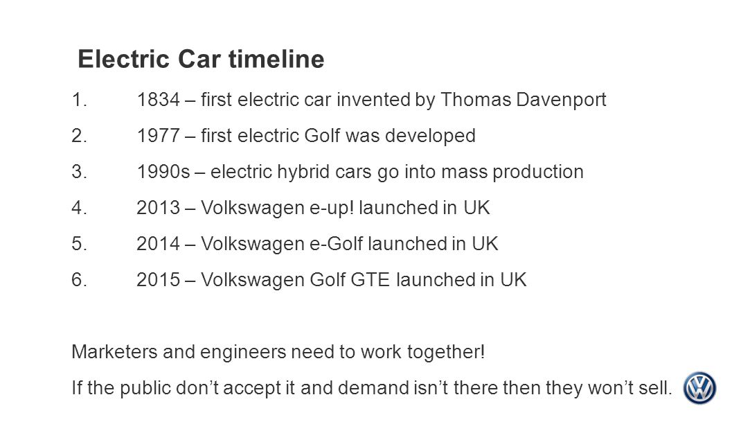 Volkswagen Electric Cars Electric Car Timeline First Electric